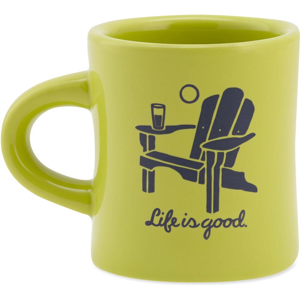 LIFE IS GOOD Adirondack Diner Mug - CHARTREUSE