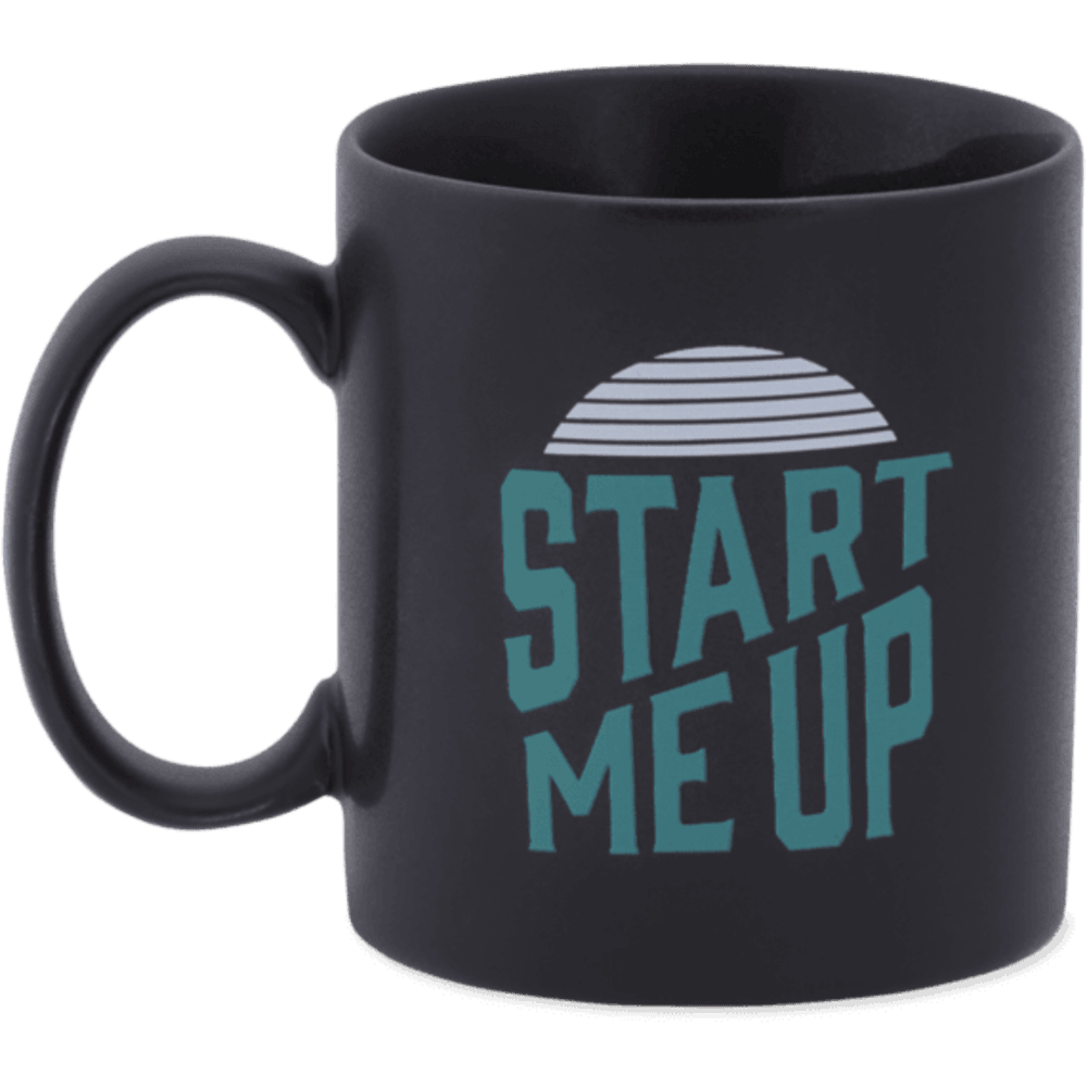 LIFE IS GOOD Jake™s Start Me Up Mug - NIGHT BLACK