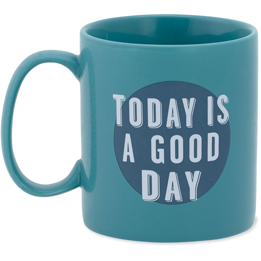 LIFE IS GOOD Jake's Today is A Good Day Mug - TEAL BLUE