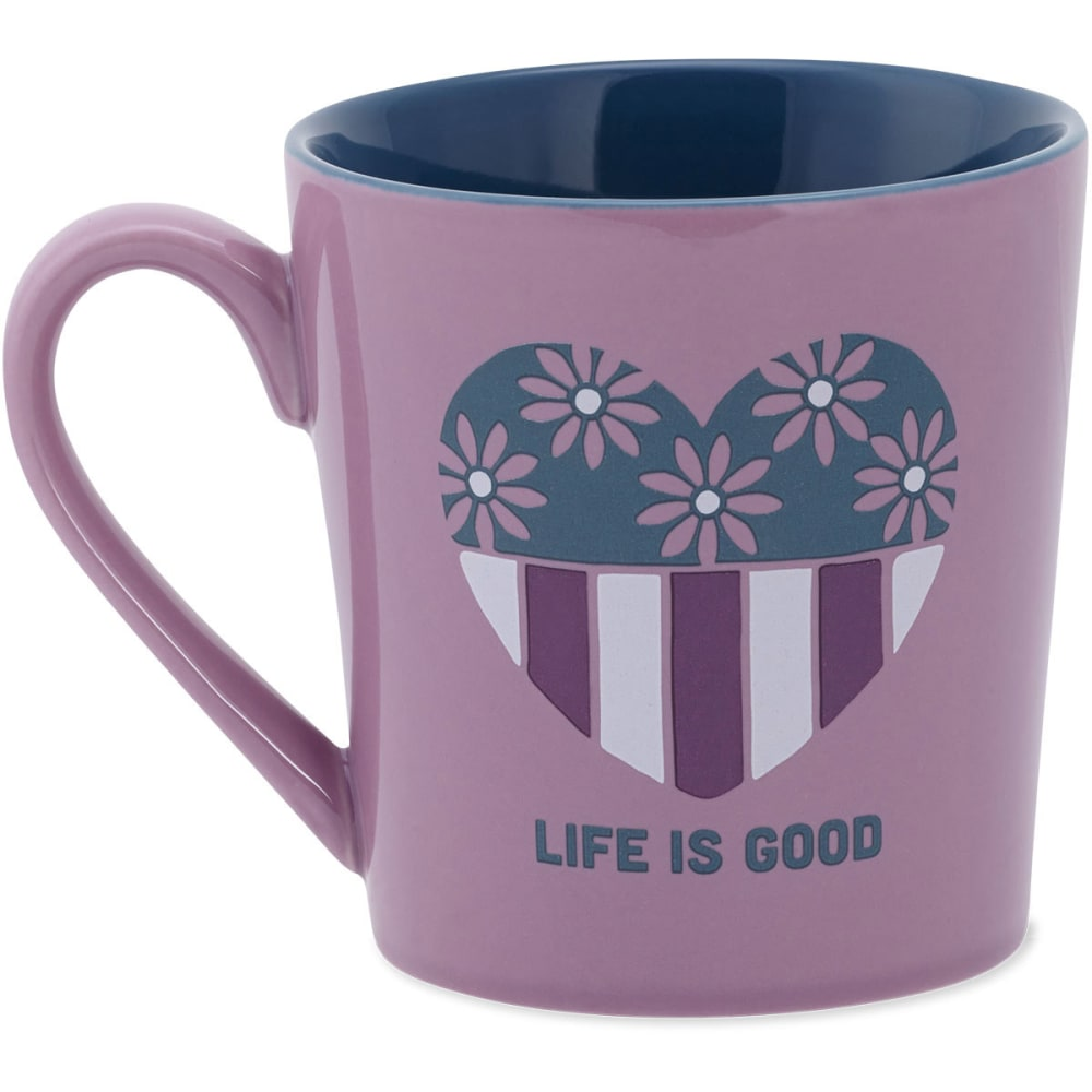 LIFE IS GOOD Everyday Mug Heart - LILAC
