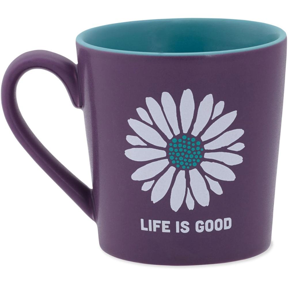 LIFE IS GOOD Everyday Mug Daisy - PLUM