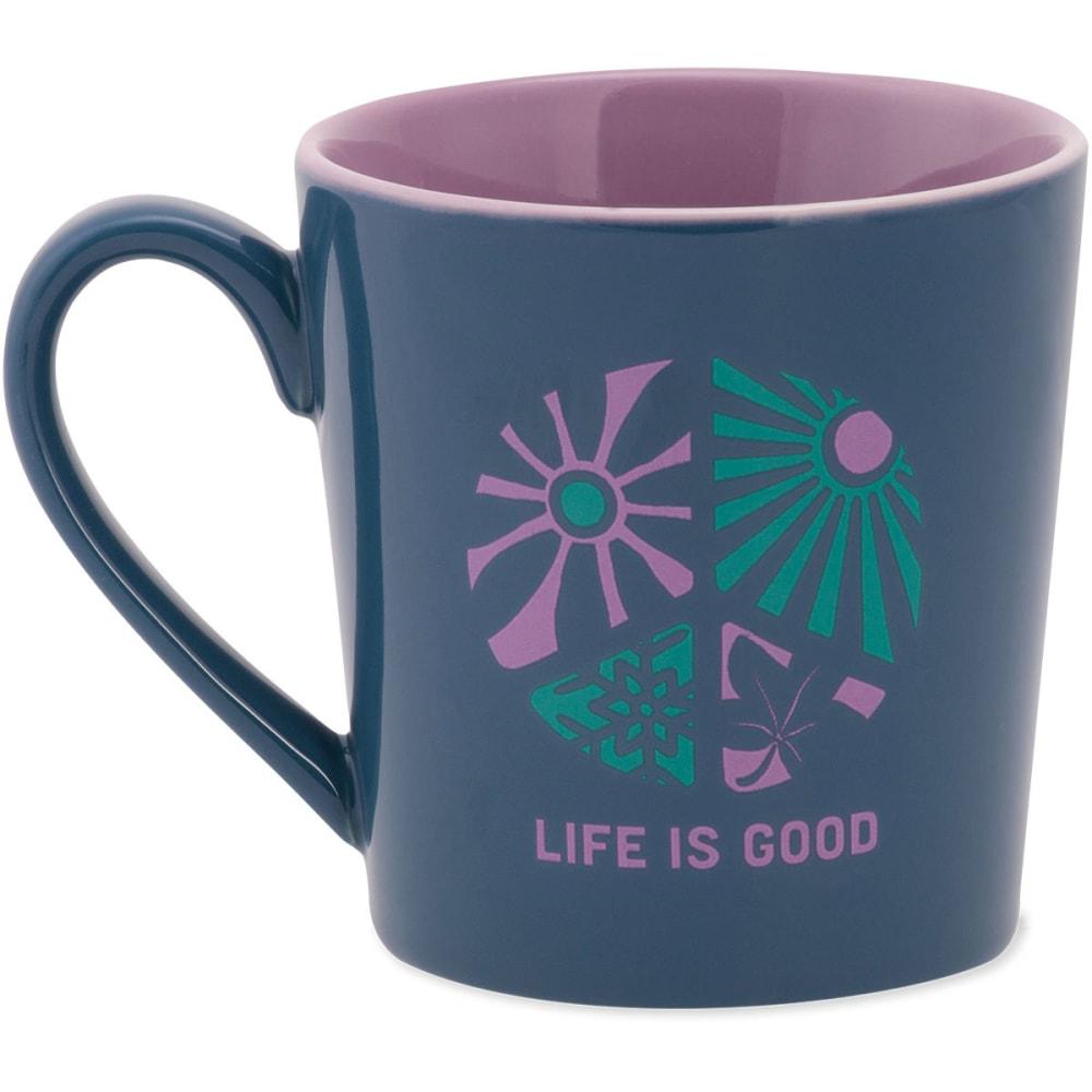 LIFE IS GOOD Everyday Mug Flowers - PACIFIC BLUE