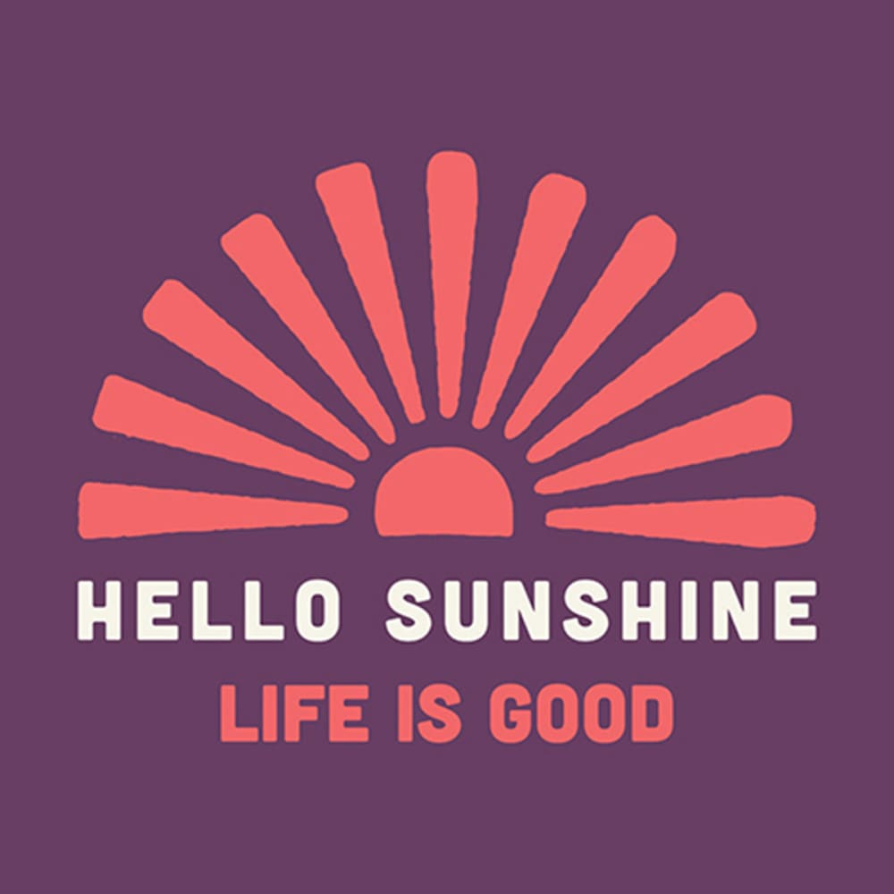 LIFE IS GOOD Hello Sunshine Everyday Mug - PLUM