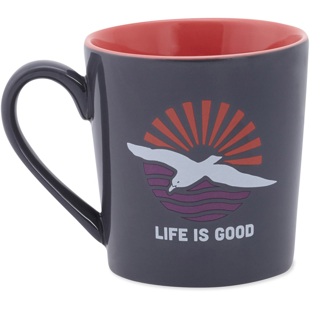 LIFE IS GOOD Beach Bird Everyday Mug - STORM GRAY