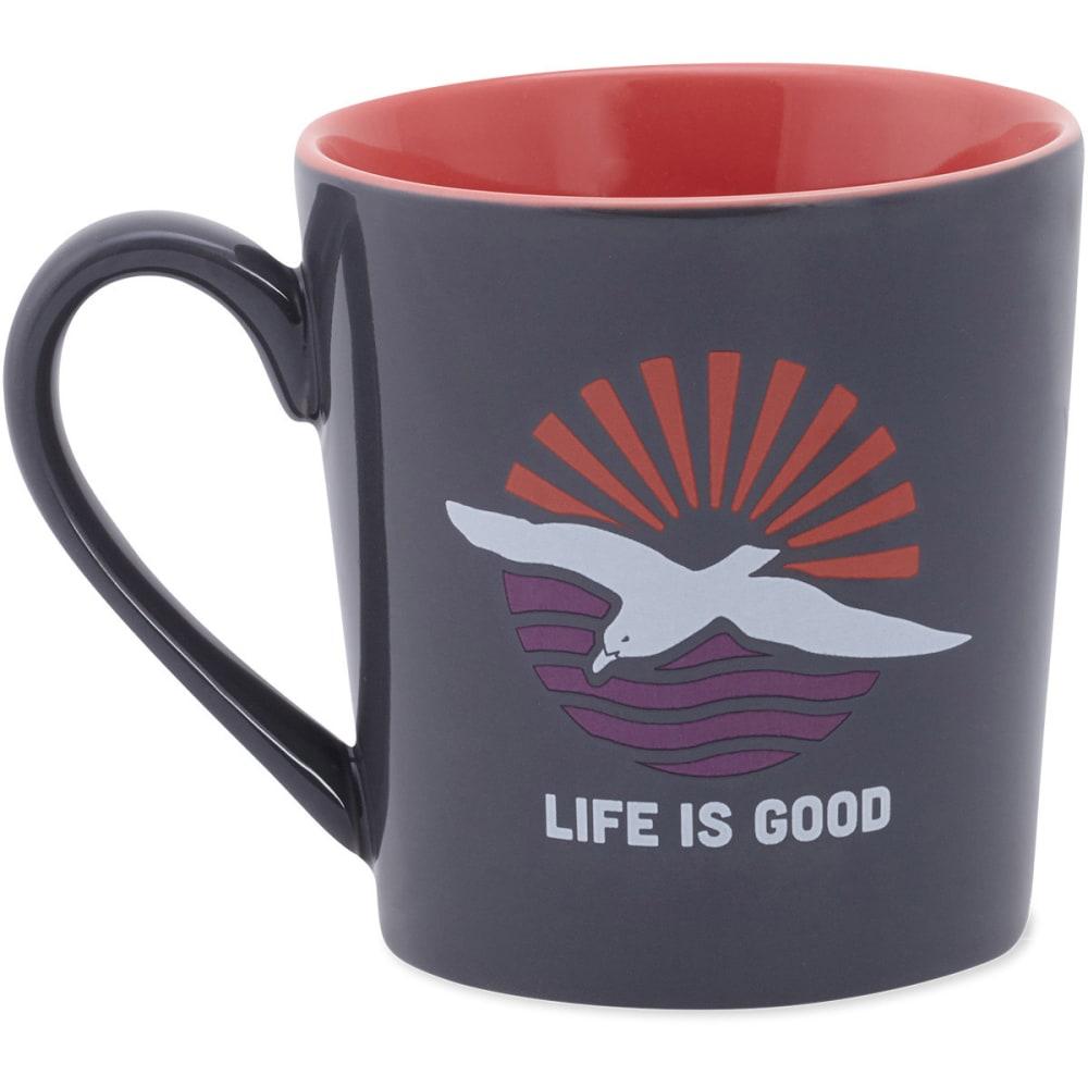 LIFE IS GOOD Beach Bird Everyday Mug - STORM GRAY