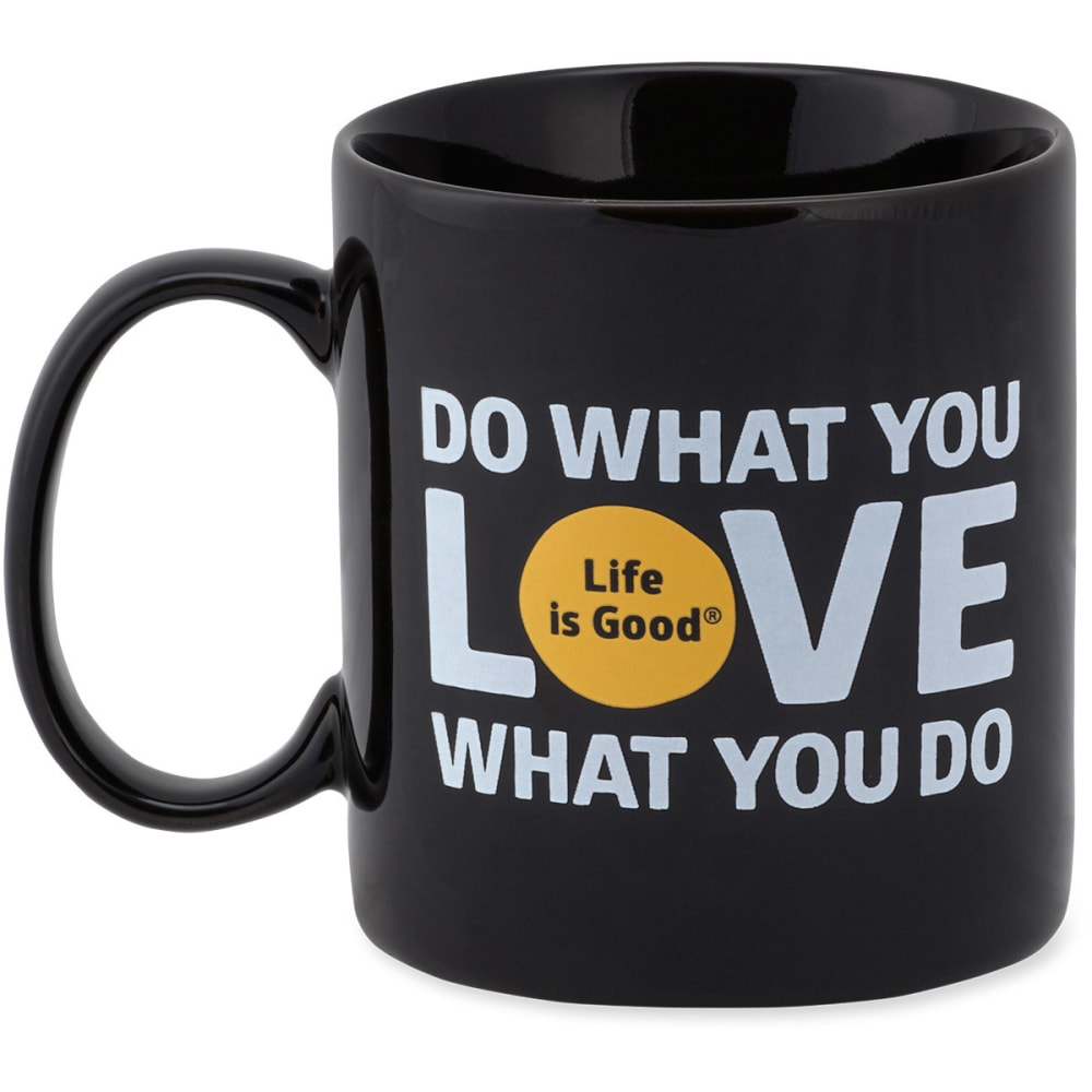 "LIFE IS GOOD ""Do What You Love"" Jake's Mug - NIGHT BLACK"