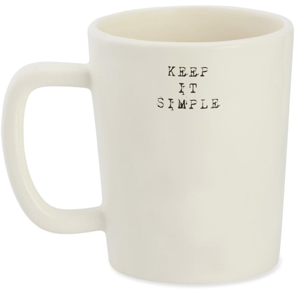 LIFE IS GOOD Keep It Simple Artisan Mug - BEIGE