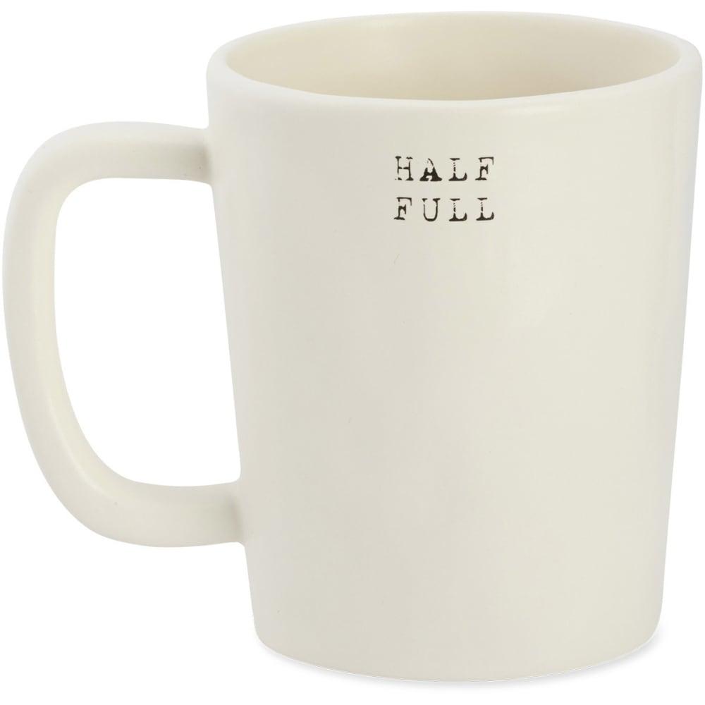 LIFE IS GOOD Half Full Artisan Mug - BEIGE