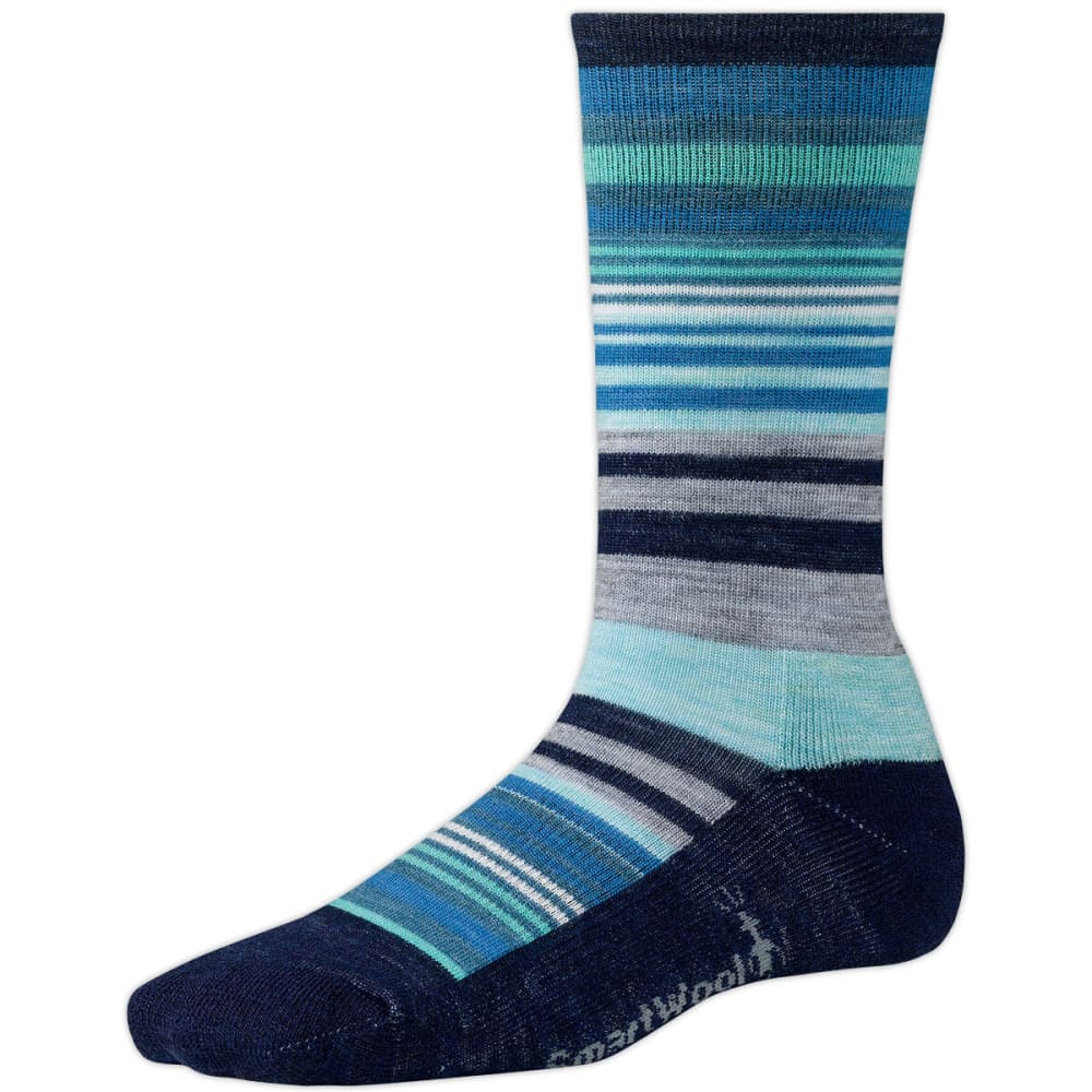 SMARTWOOL Women's Jovian Stripe Socks - ANCHOR BLUE