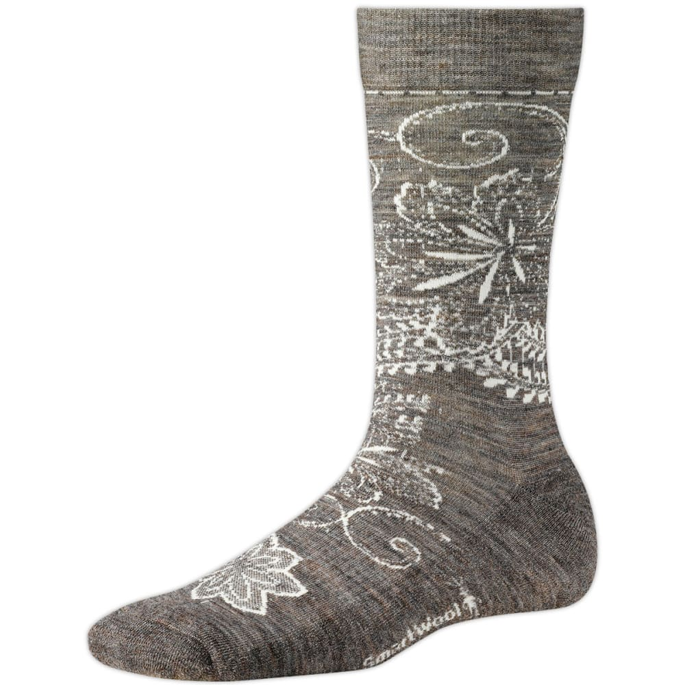 SMARTWOOL Women's Floral Scroll Socks - TAUPE