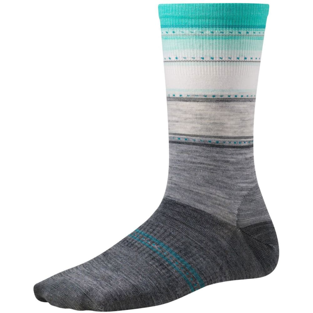 SMARTWOOL Women's Sulawesi Stripe Socks - LIGHT GREY