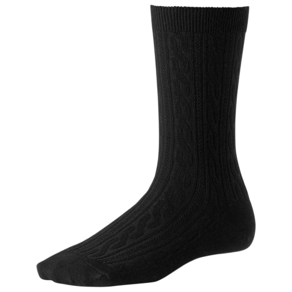 SMARTWOOL Women's Cable II Crew Socks - BLACK 001