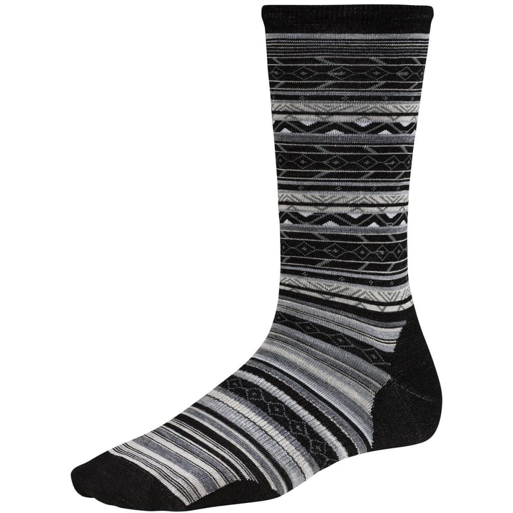 SMARTWOOL Women's Ethno Graphic Crew Socks - BLACK 001