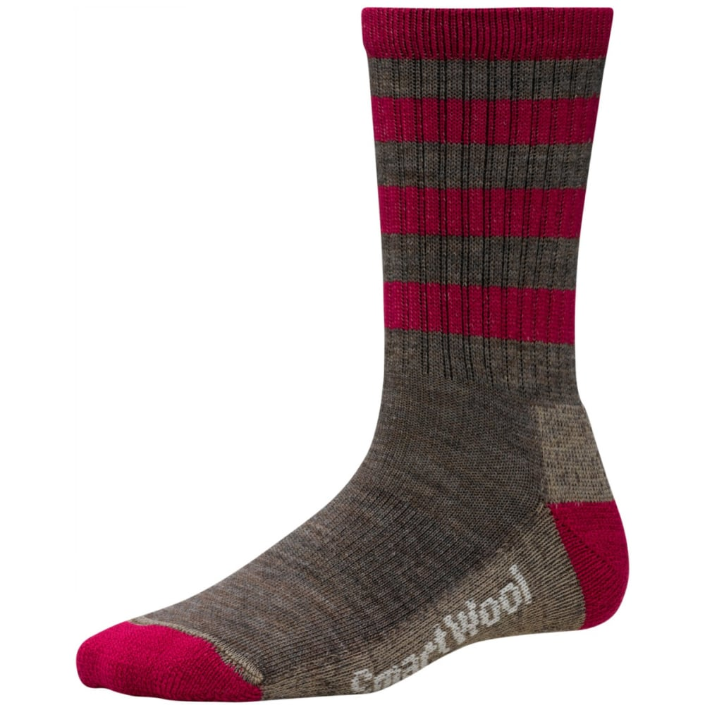 SMARTWOOL Women's Striped Hike Light Crew Socks - TAUPE