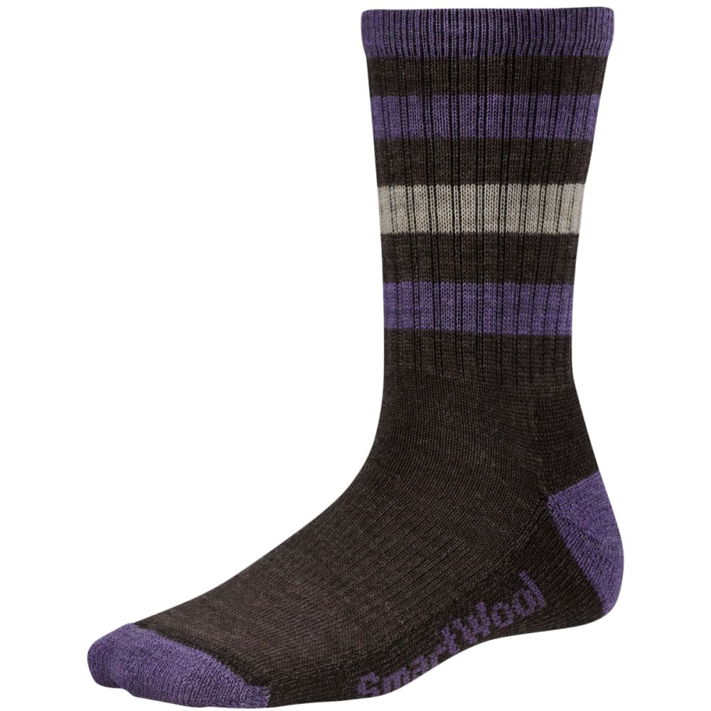 SMARTWOOL Women's Striped Hike Light Crew Socks - CHESTNUT