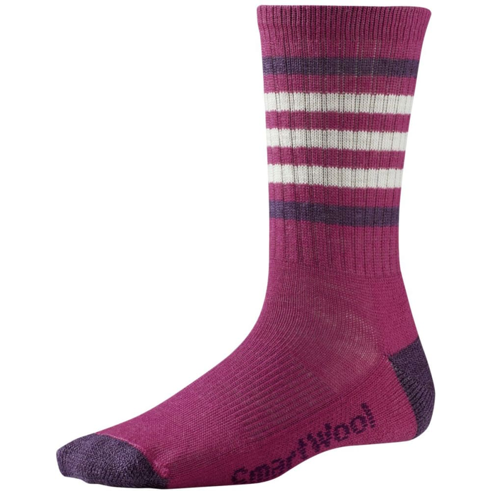SMARTWOOL Women's Striped Hike Light Crew Socks - BERRY/DESERT PURP330