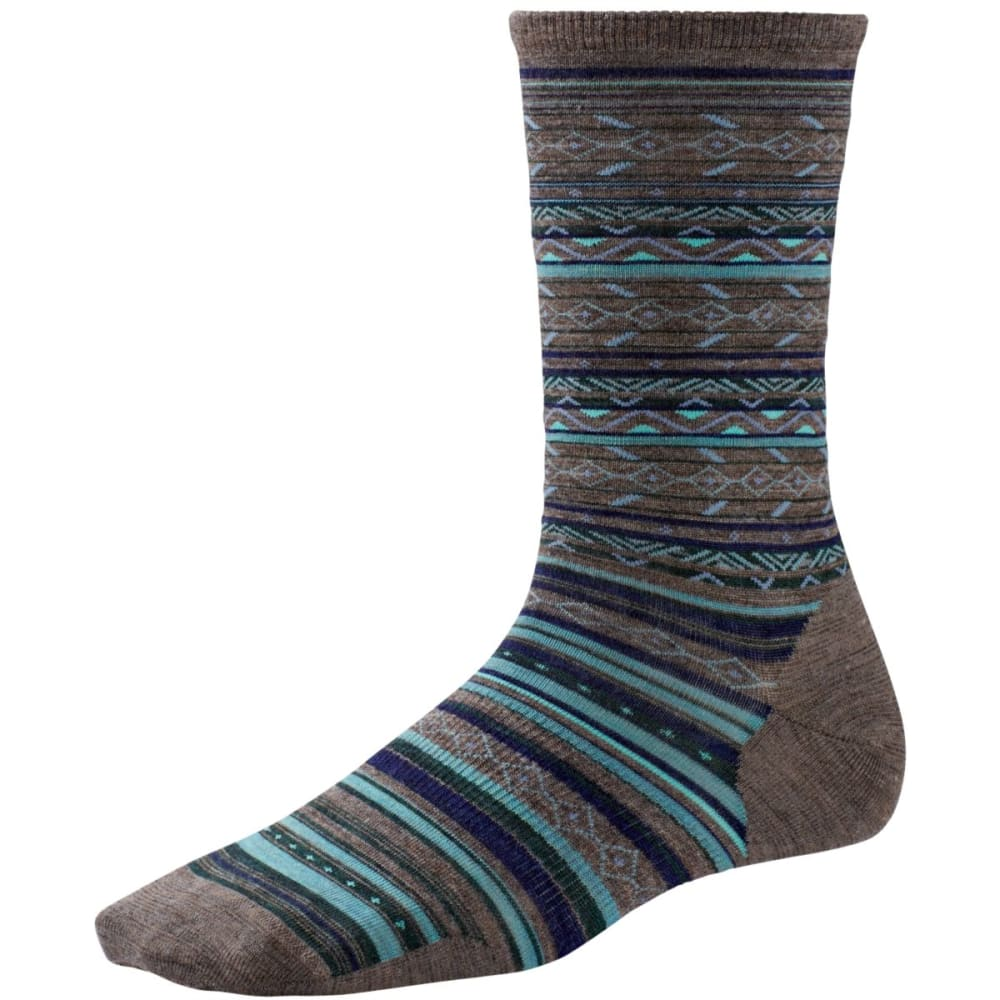 SMARTWOOL Women's Ethno Graphic Crew Socks - TAUPE