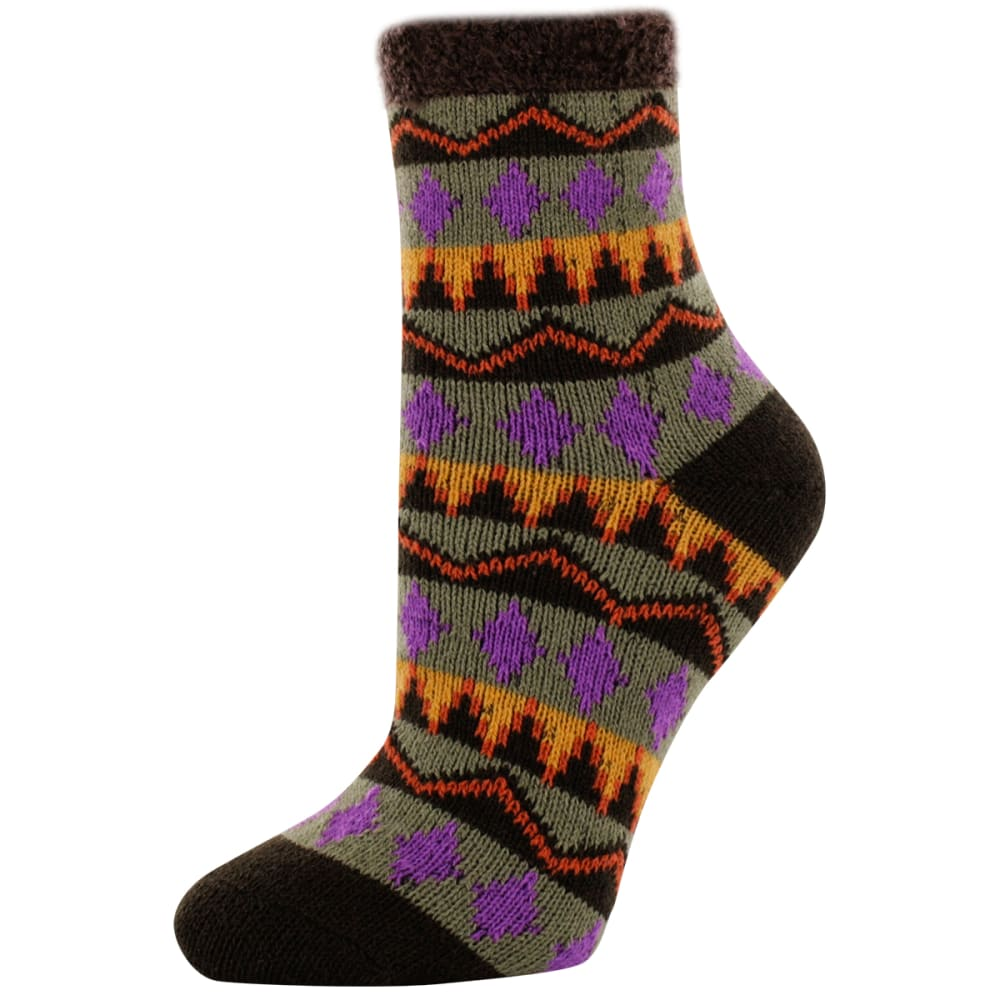 SOFSOLE Women's Tribal Fireside Cabin Socks - GRAPHITE/ELECTRIC BL