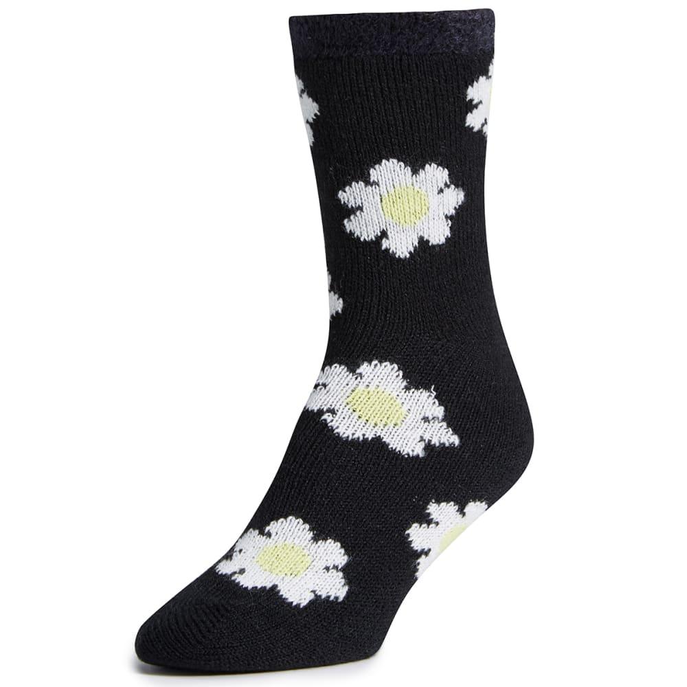 SOFSOLE Women's Daisy Fireside Cabin Socks, Black - BLACK
