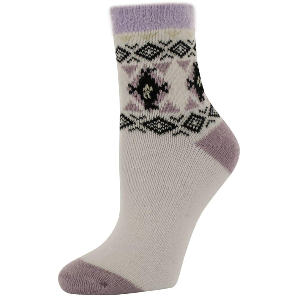 SOFSOLE Women's Aztec Fireside Cabin Socks, Cream - WHITE/CHINCHILLA