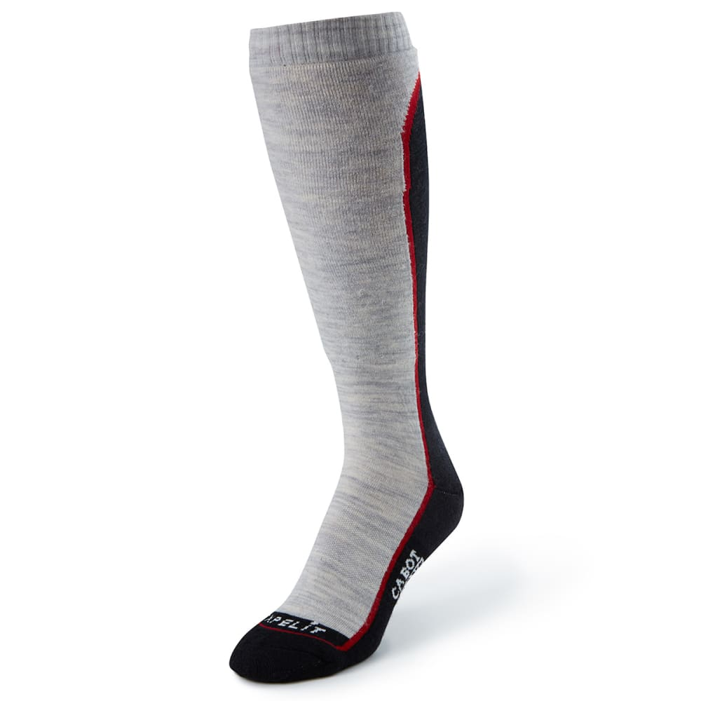 CABOT Women's Fault Line Ski Socks - BLACK