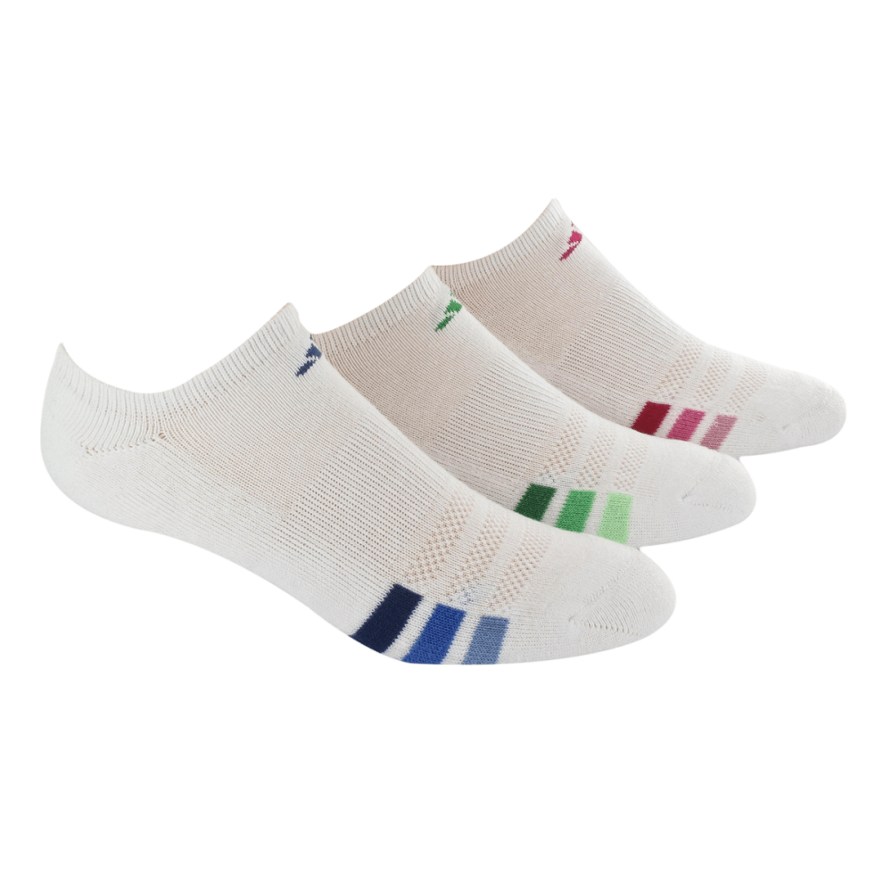 ADIDAS Women's Cushioned Variegated No Show Socks - NONE
