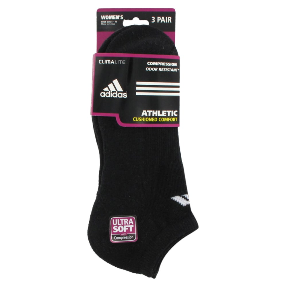 ADIDAS Women's Cushioned Variegated No Show Socks - BLACK-DISC-DNU