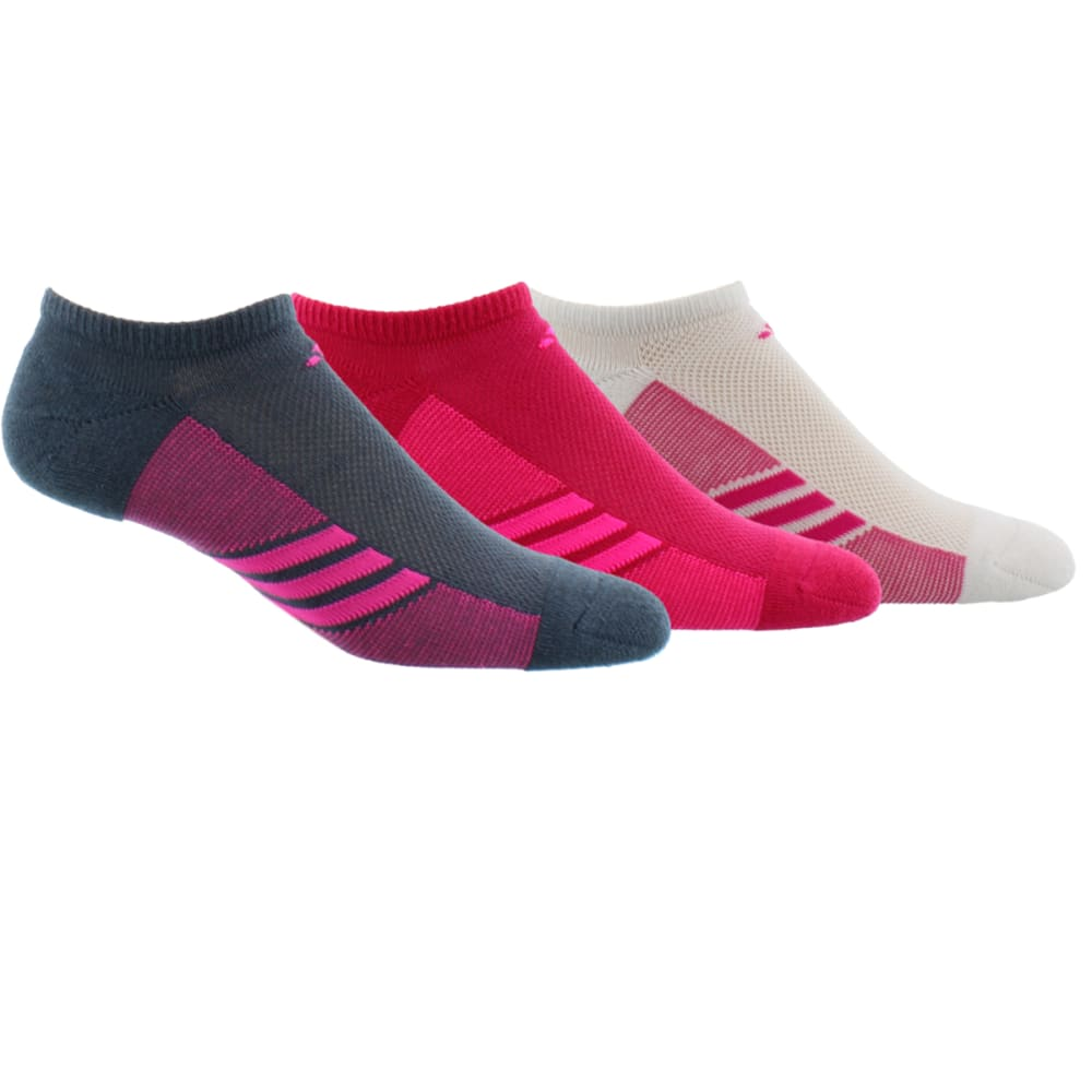 Adidas Women's Climacool(R) Superlite No Show Socks, 3 Pack - Red, 9-11