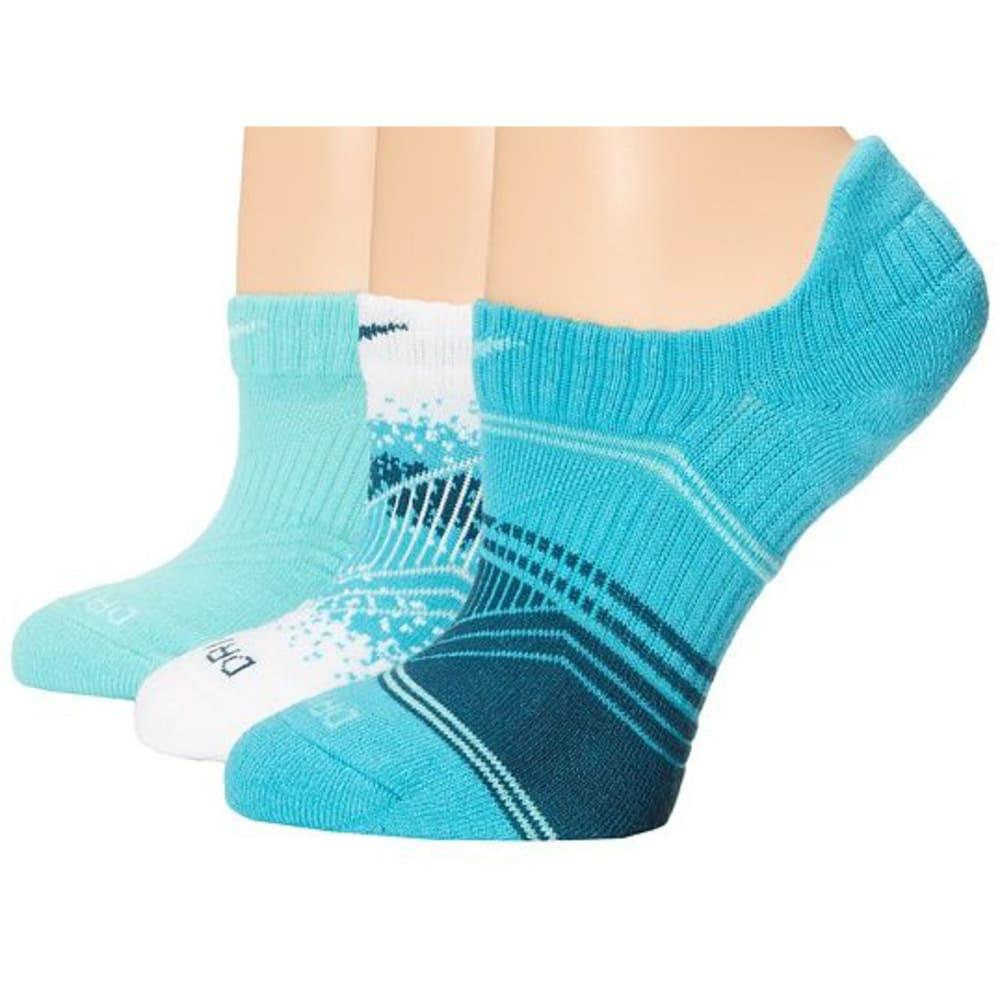 NIKE Women's Dri-Fit Graphic No-Show Socks, 3 Pairs - TURQUOISE