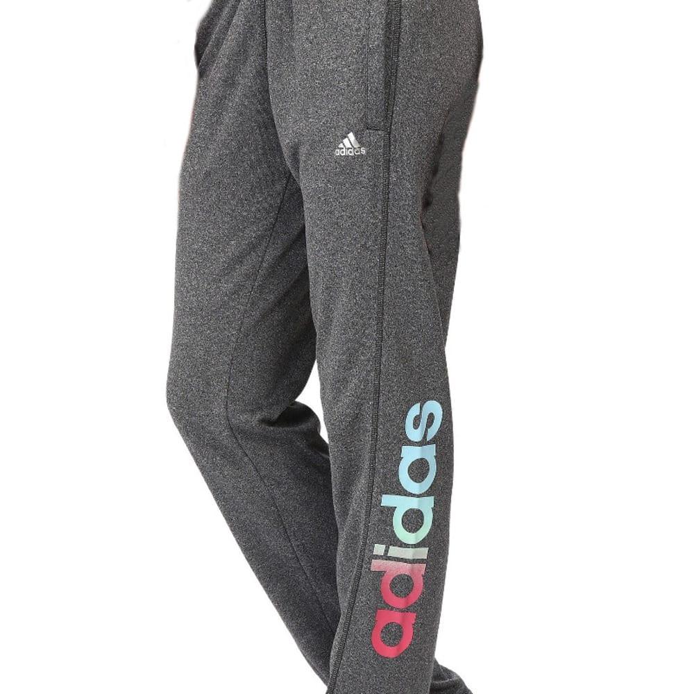 ADIDAS Women's Ultimate Fleece Adjustable Training Pants - DARK GREY HEATHER