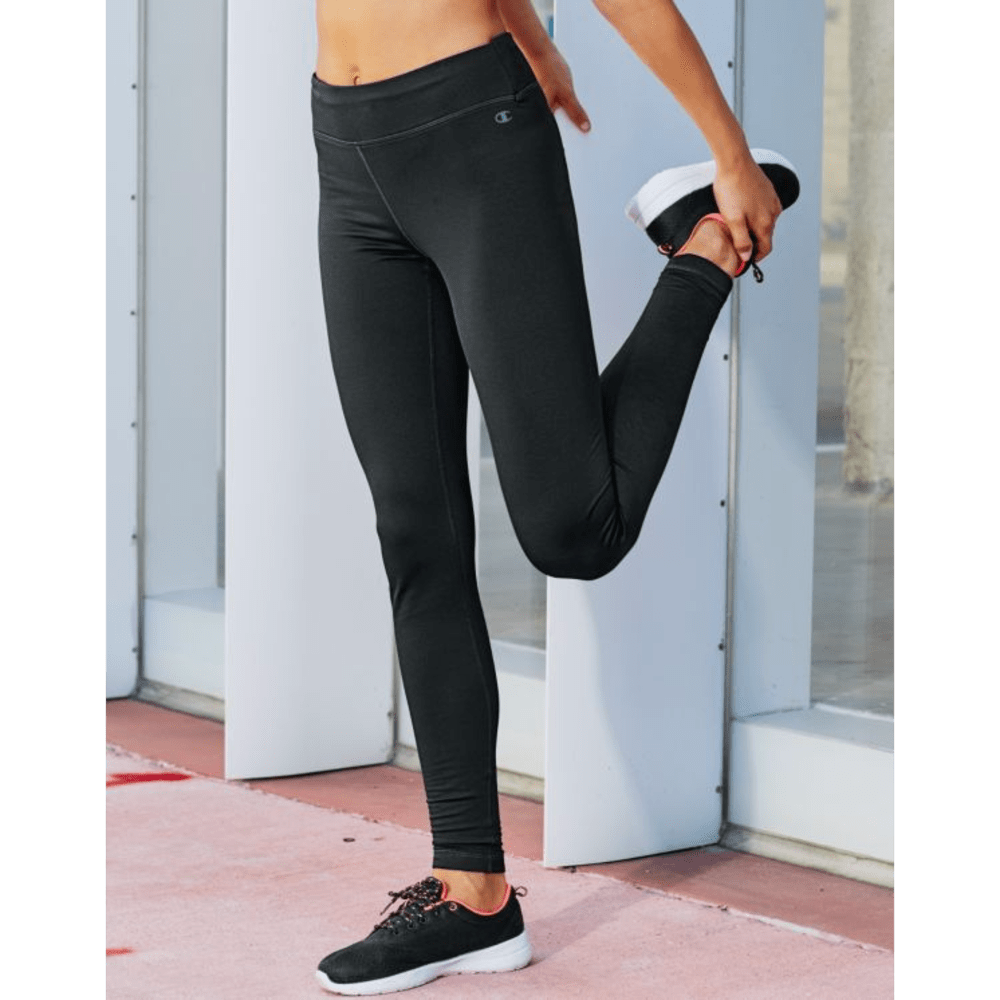 CHAMPION Women's Tech Fleece Tights - BLACK