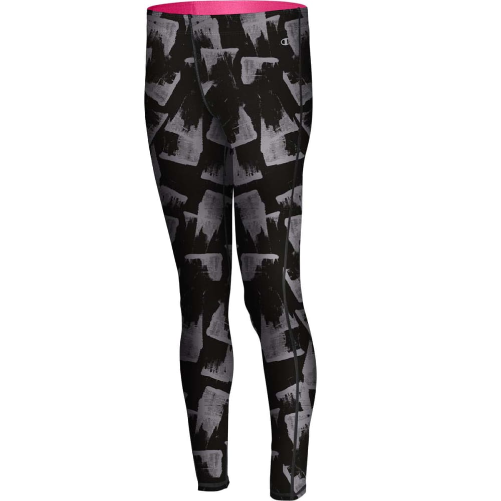CHAMPION Women's Go To Tights - BLACK SMUDGE