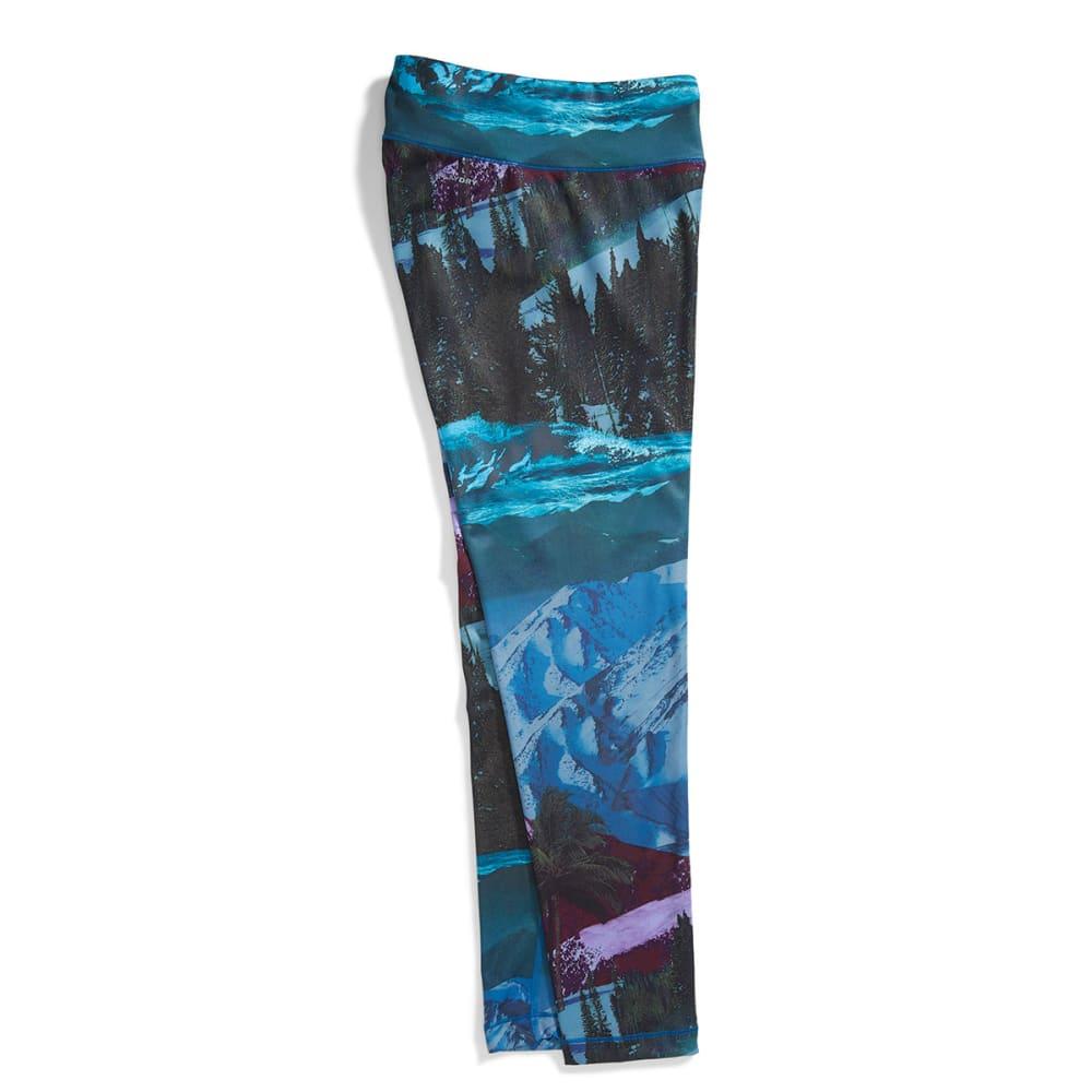 REEBOK Women's Mountain Print Legging - RAVEN