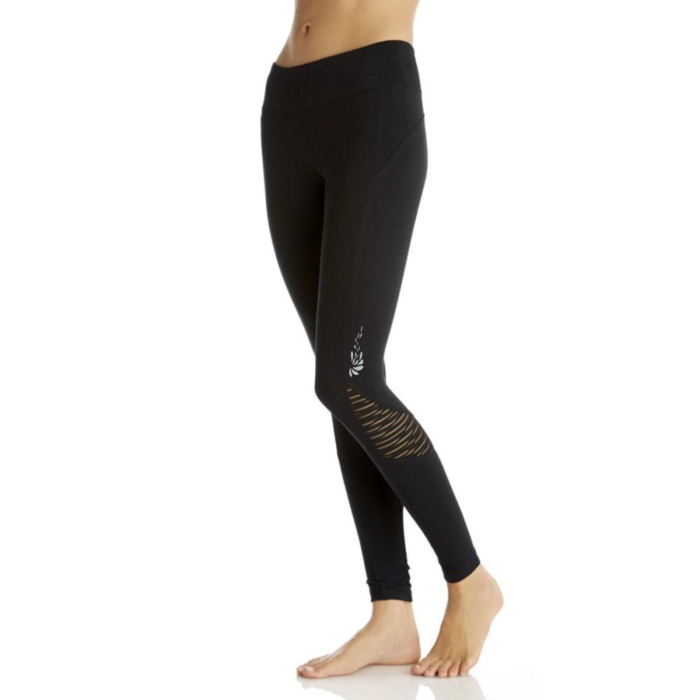 422c0bdacaede MARIKA BALANCE COLLECTION Women's Sanded Dry Wik Leggings - HEATHER  BLACK