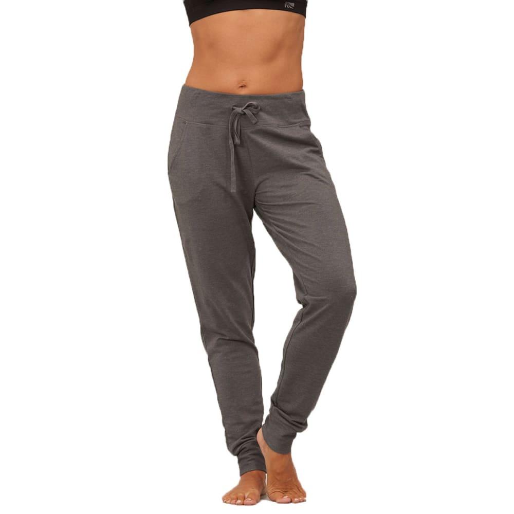 MARIKA Women's Balance Feel The Burn Cuffed French Terry Pants - HEATHER CHARCOAL
