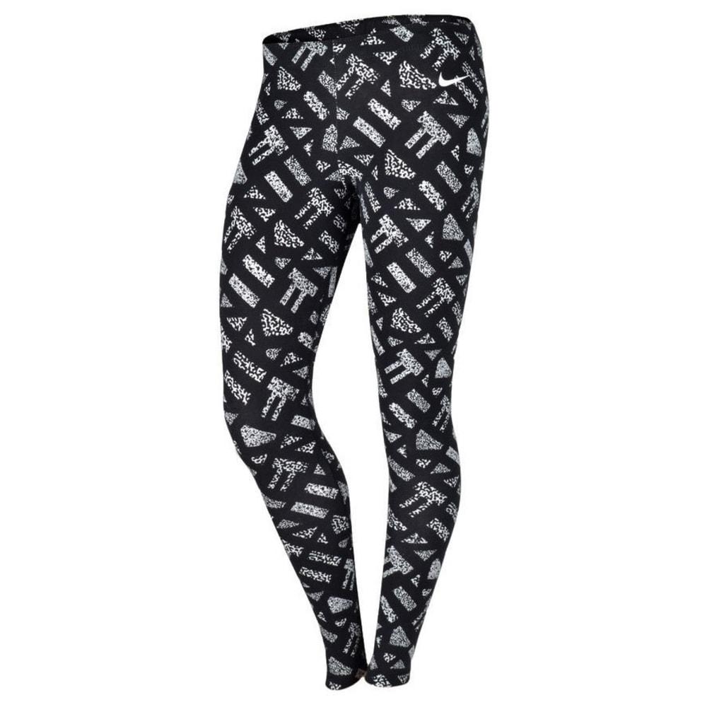NIKE Women's Club Print Leggings - BLACK/WHITE
