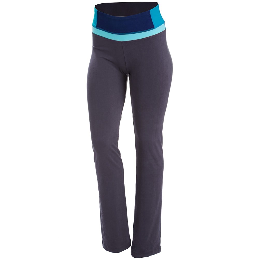 BALLY FITNESS Women's Total Fitness Color Block Pants - NINE IRON/BLUE