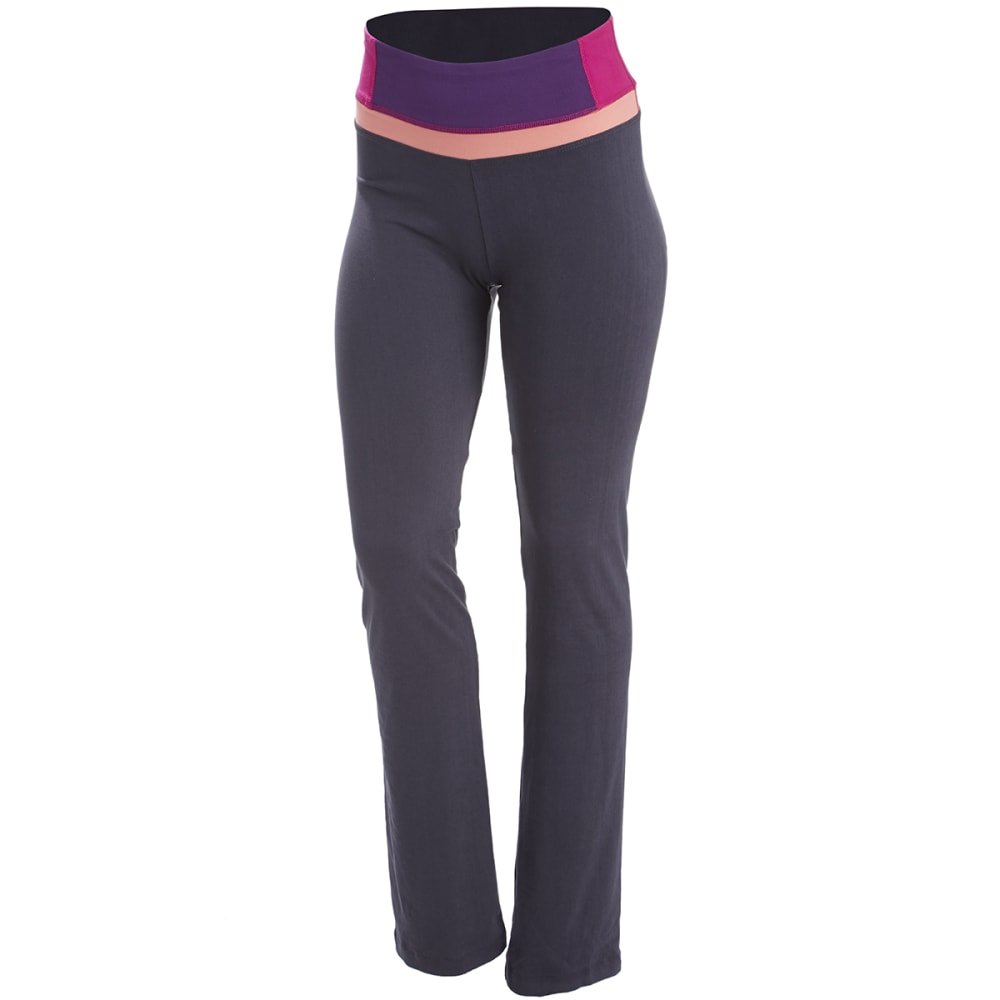 BALLY FITNESS Women's Total Fitness Color Block Pants - NINE IRON/BERRY