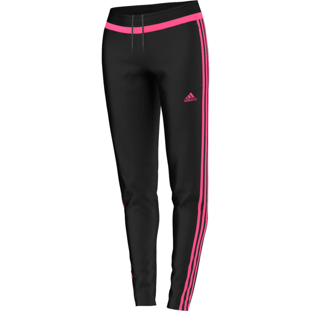 ADIDAS Women's Tiro 15 Soccer Training Pants - BLACK/SOLAR PINK