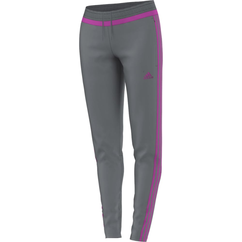 ADIDAS Women's Tiro 15 Soccer Training Pants - VISTA GREY/FLASH PIN