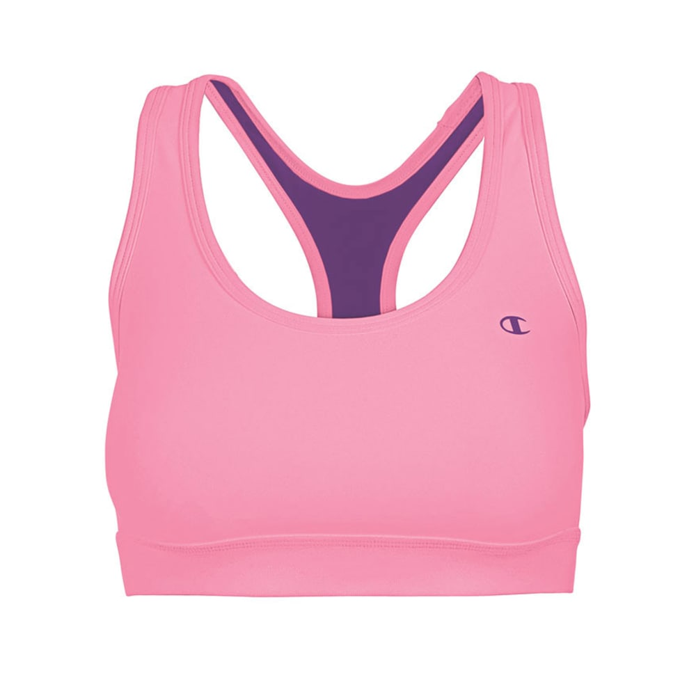 CHAMPION Women's Absolute Workout ll Bra - VALUE DEAL - NEON FLARE/PLUM DREA
