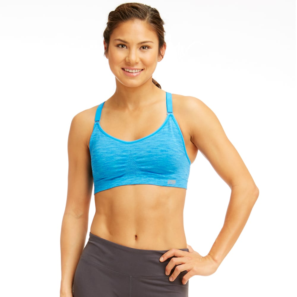 MARIKA Women's Seamless Power Mesh Sports Bra - BLUE BOLT