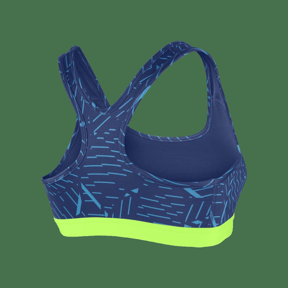 NIKE Women's Pro Printed Classic Bra - BLUE