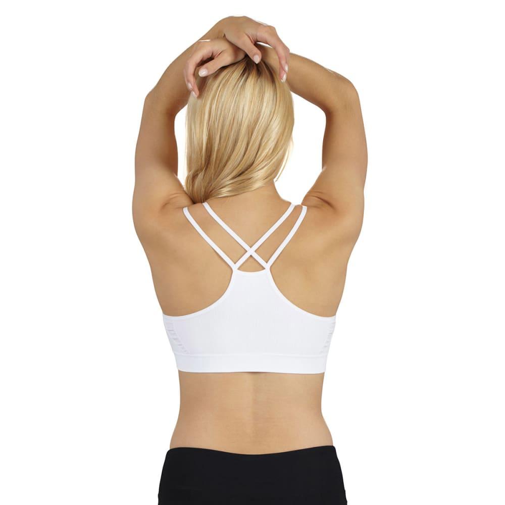 MARIKA Women's Seamless Double Strap Sports Bra - VALUE DEAL - WHITE