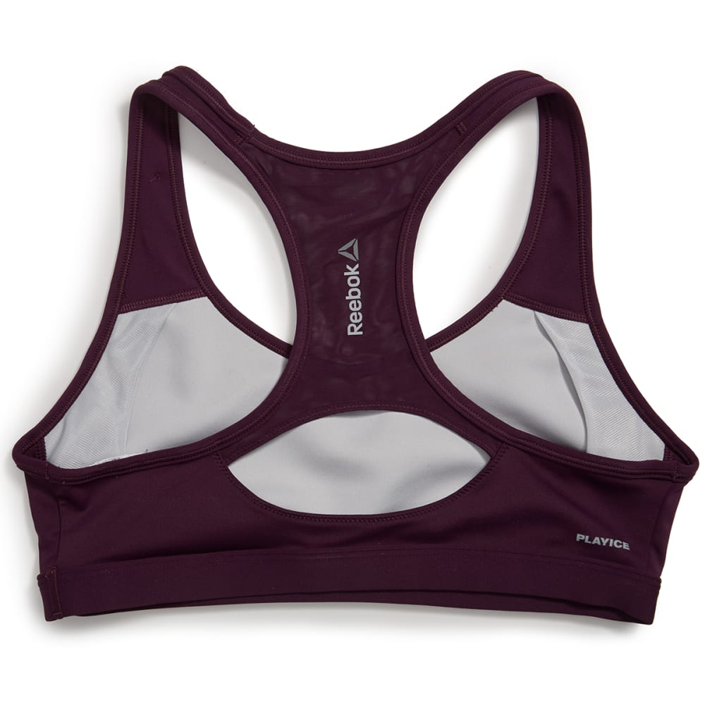 REEBOK Women's Graphic Racer Sports Bra - ROYAL ORCHID