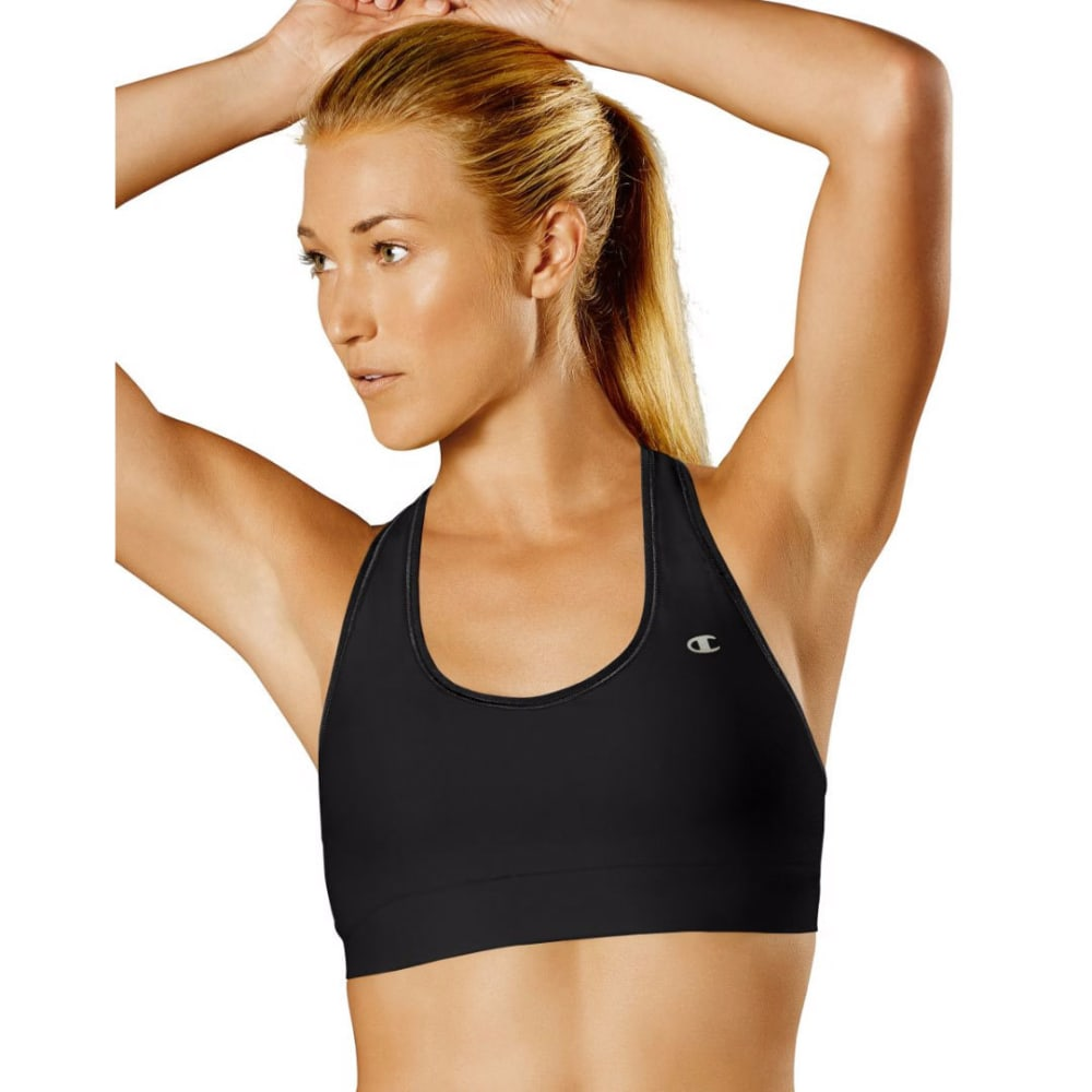 CHAMPION Women's Absolute Workout II Sports Bra - BLACK