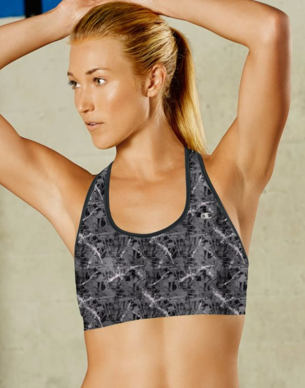 CHAMPION Women's Absolute Racerback Sports Bra with SmoothTec Band - BLACK