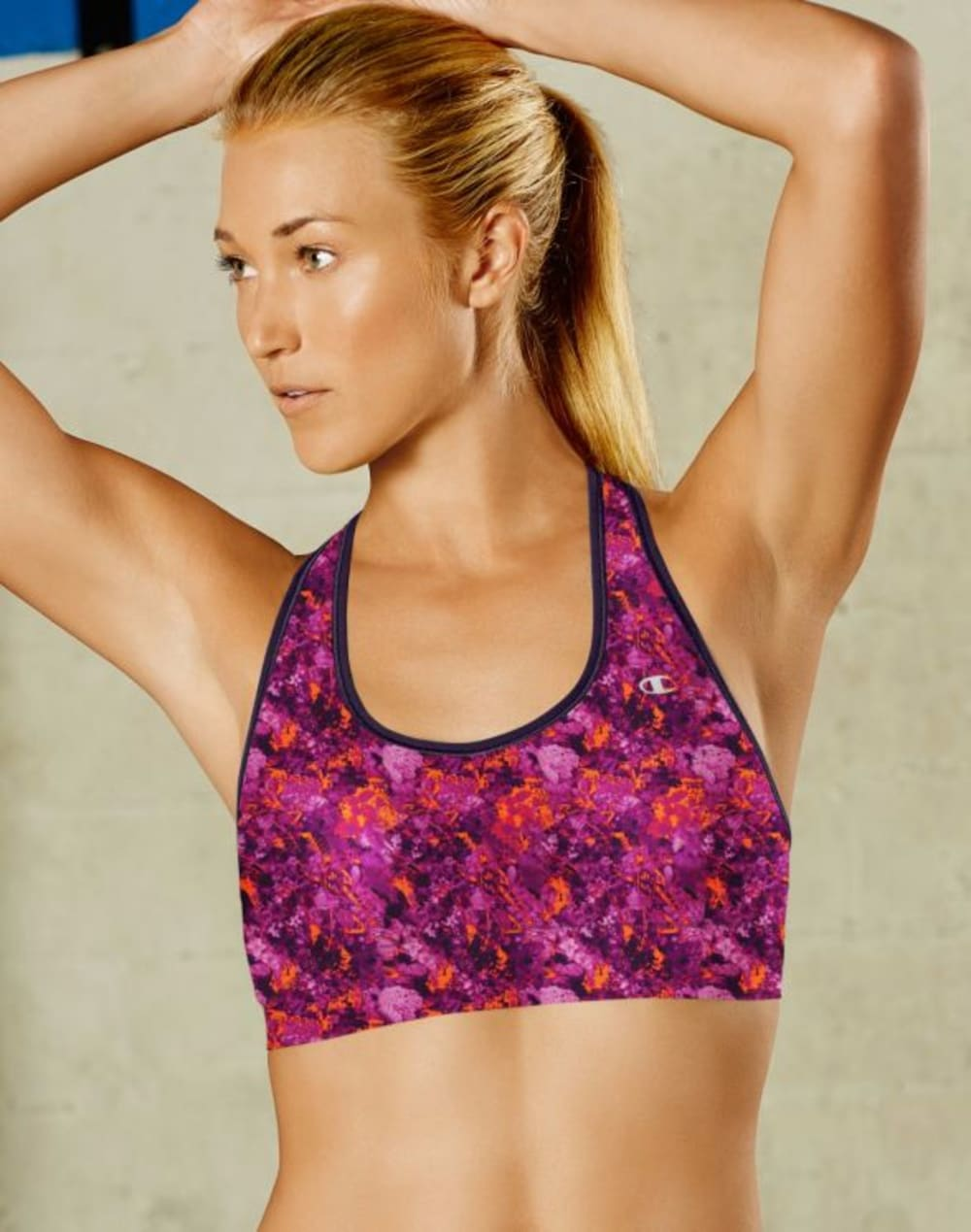 CHAMPION Women's Absolute Racerback Sports Bra with SmoothTec™ Band - PATTERN