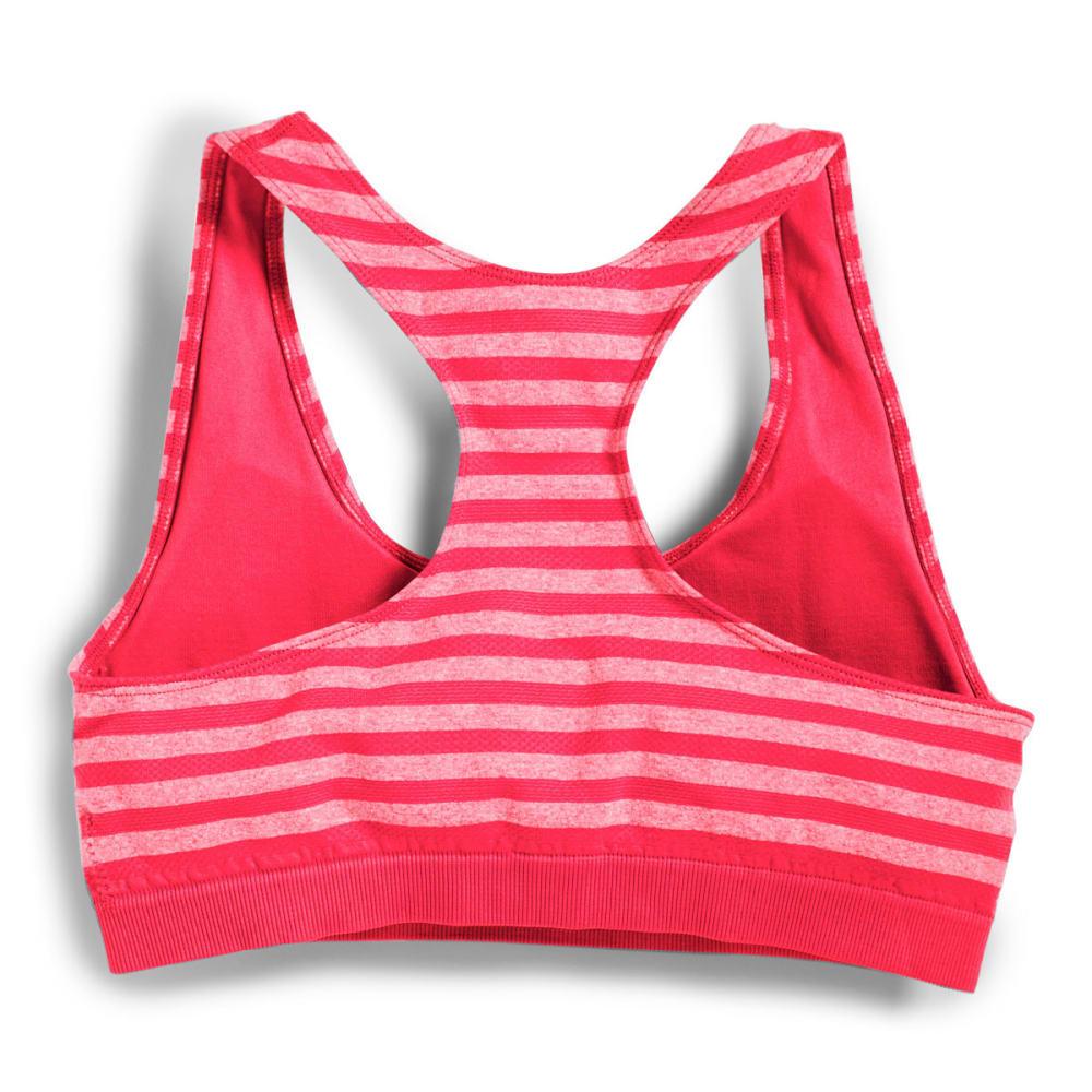 MARIKA Women's Seamless Mesh Stripe Sport Bra - ELECTRIC FOLLY