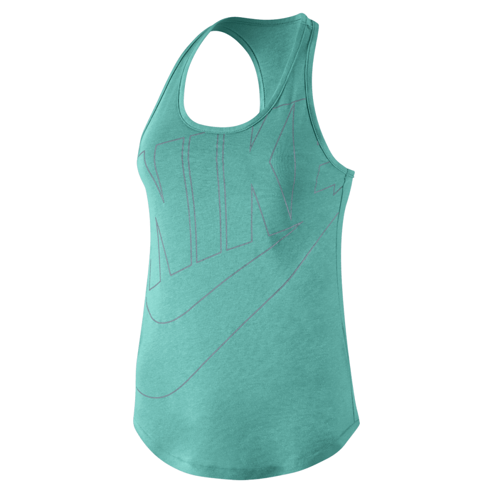 NIKE Women's Oversized Futura Tank - GREEN